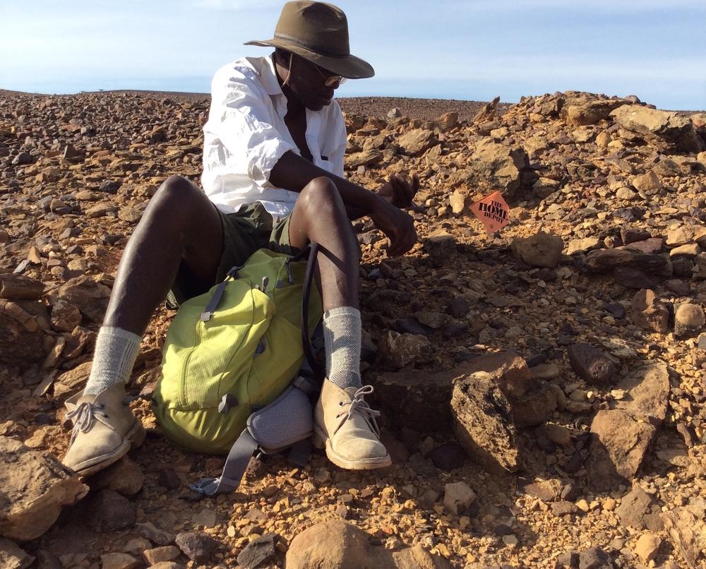 Isaiah Nengo at work in the Lake Turkana Basin