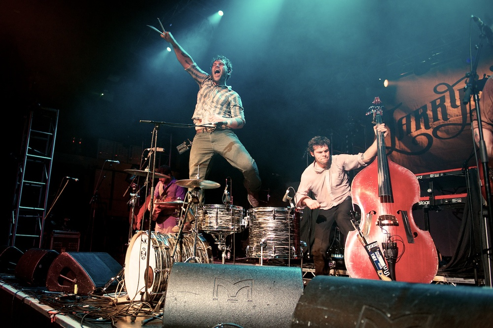 Jamin Marshall, drums, and Jeshua Marshall, double bass, giving Birmingham a good seeing too... 24.04.13.