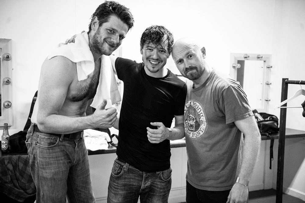 Craig McKean, Cahir O'Doherty and Jamie King backstage after their last show as Fighting With Wire.