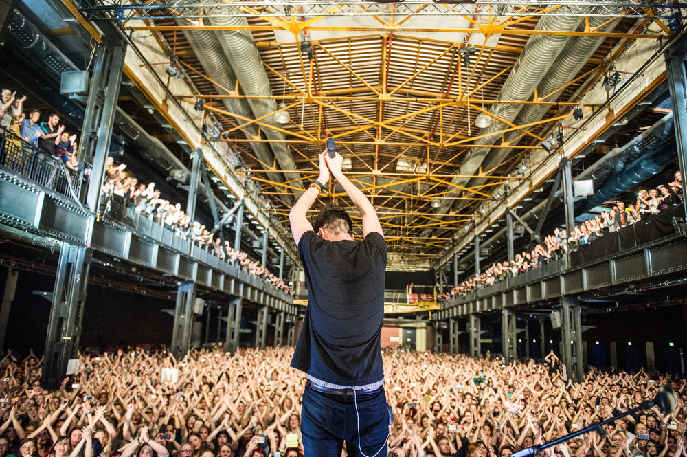 Get your hands in the air, Koln, Germany.