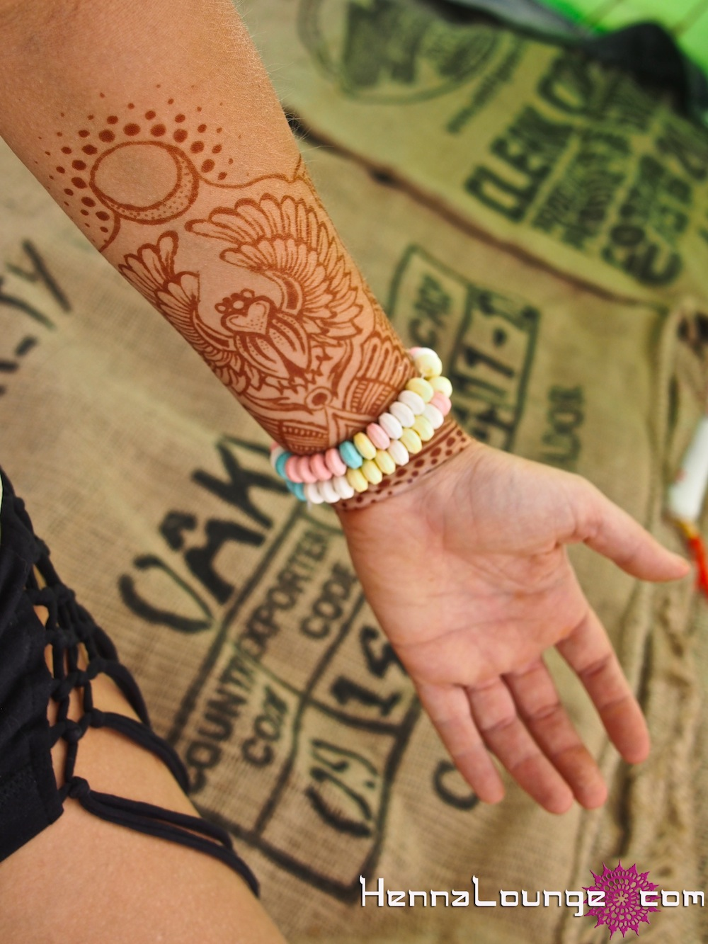 Egyptian themed henna for Burning Man 2012
