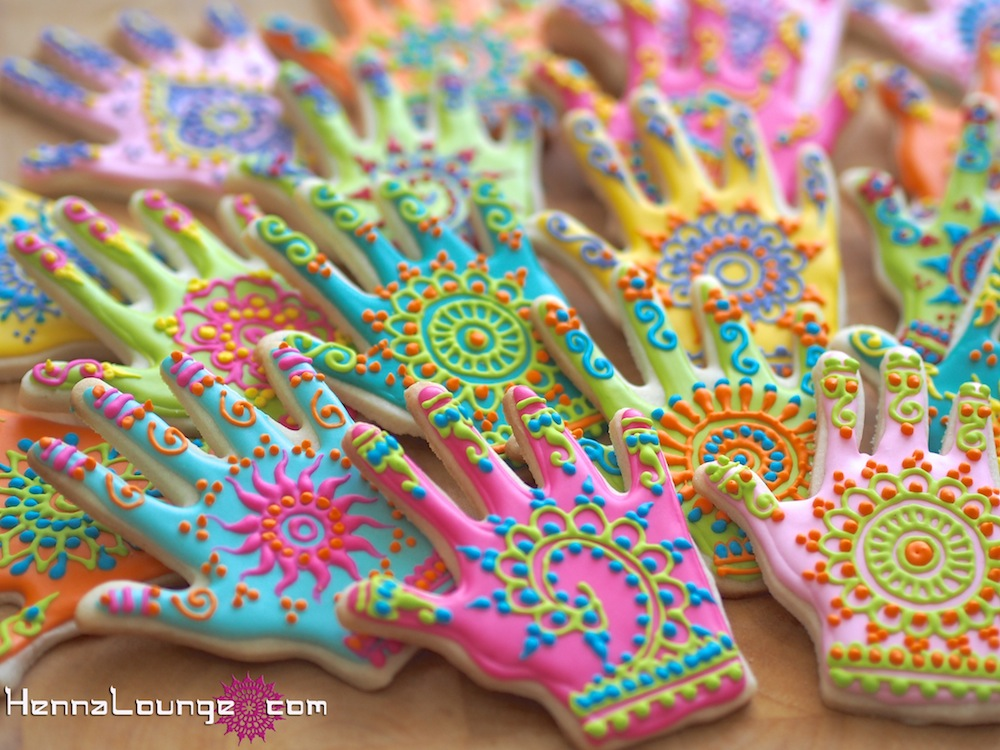 Henna hands for a corporate gift