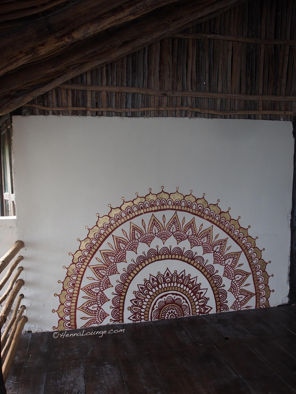 Mandala I painted at Utopia Tulum yoga studio
