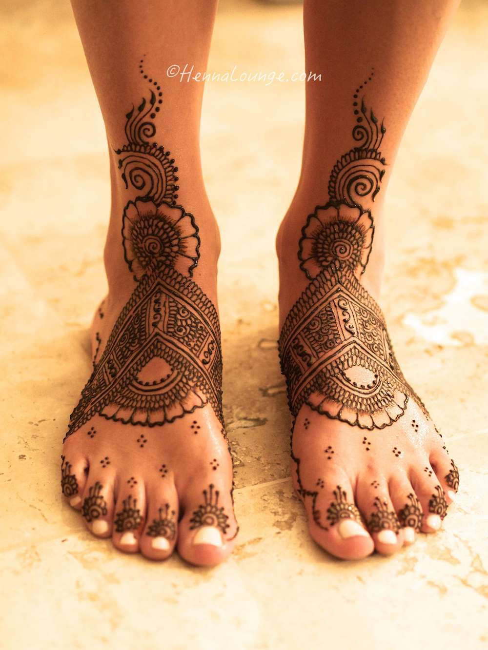 Henna at Sandos resort, without sandals.