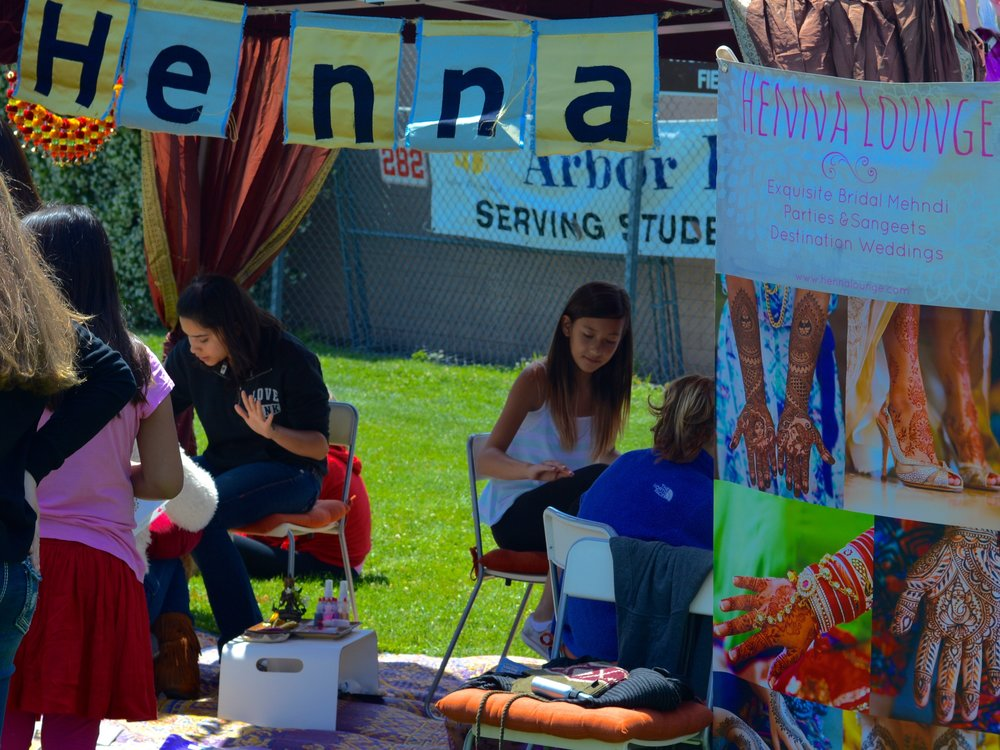 Lots of happy kids in our henna booth!