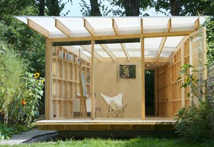 Summerhouse david caines for Garden design ideas with summer house