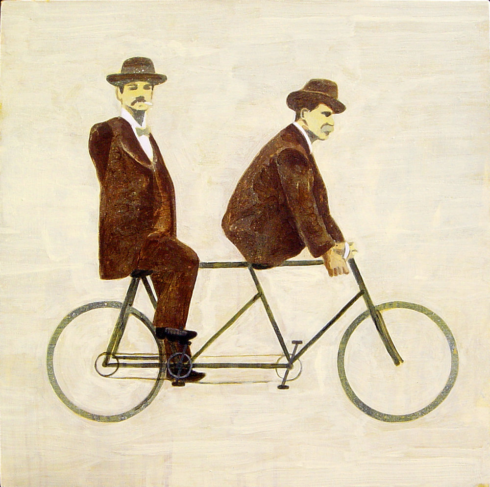 the cyclists  acrylic on canvas © 2007 (60 x 60cm)