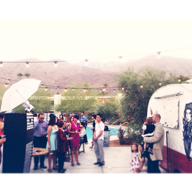The #BareBox in full effect at #AlexAndAlfred's #Wedding at #TheAce in #PalmSprings
