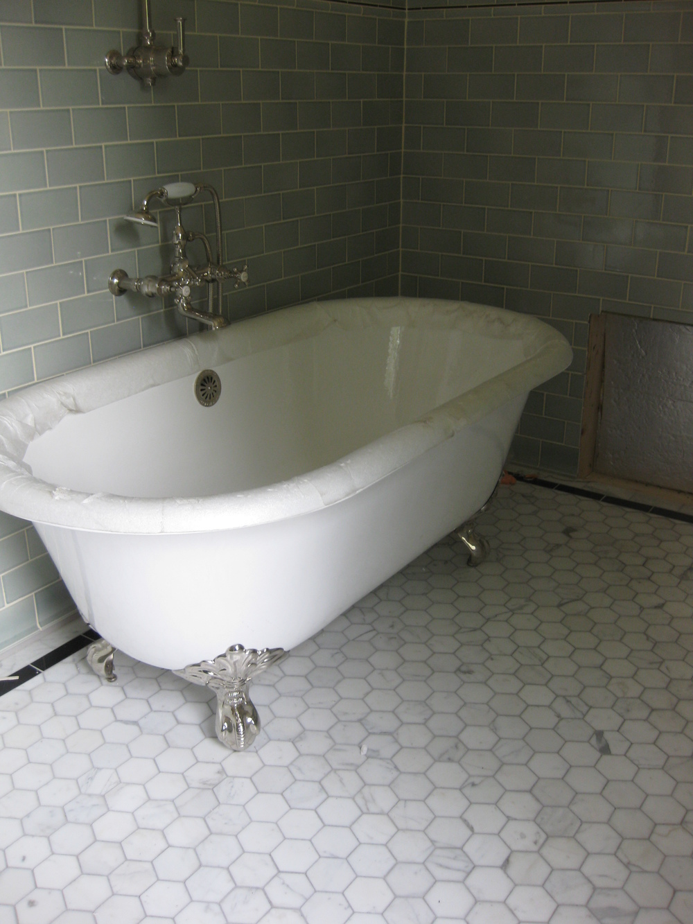 Bathrooms tile installation floor tile consist of carrara marble border granite border and dailygadgetfo Gallery