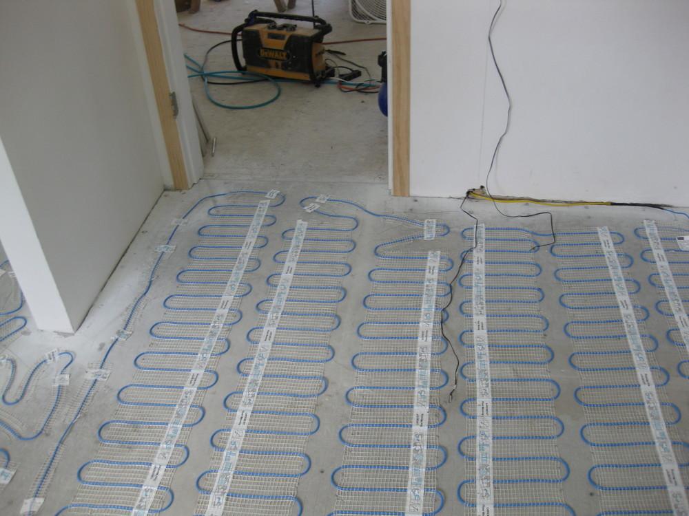 Heated Floors Tile Installation