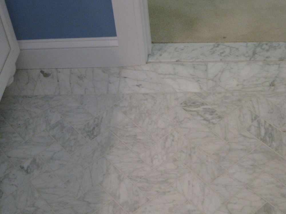Bathrooms Tile Installation - 6 x 12 porcelain floor tile