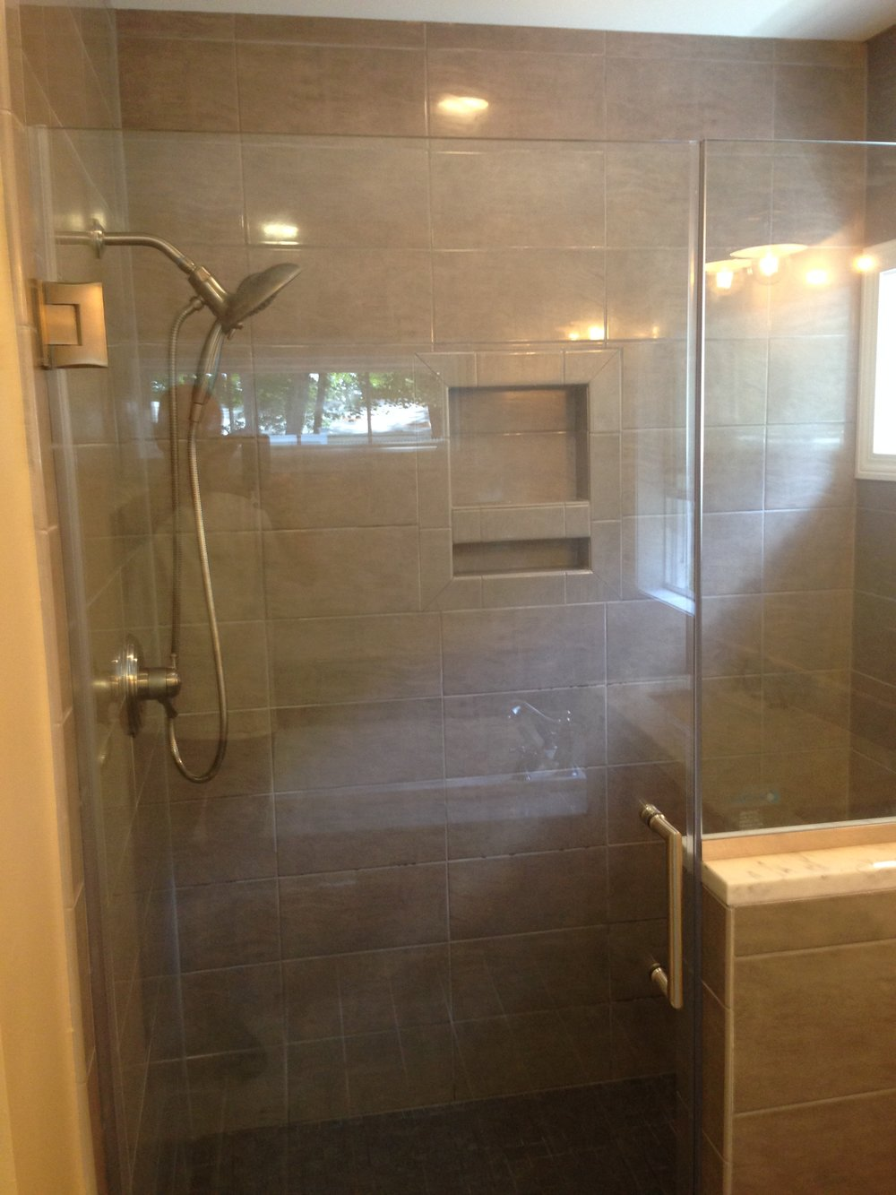 hgtv in installation design tile bathroom rooms shower install bathrooms to how a