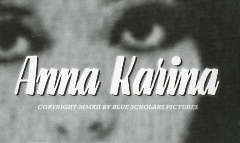 bluescholars :      ANNA KARINA  music video. Directed by  Matt Jay . Dropping 11/27/12 NOON PST.      Anna Karina video dropping today at noon (PST)