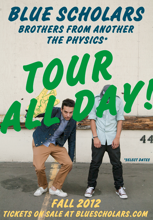#TOWNALLDAY #TOURALLDAY W/ BROTHERS FROM ANOTHER & THE PHYSICS*! *DON'T TALK TO THE COPS PLAYING NOV 29 (BELLINGHAM) & NOV 30 (SEATTLE) GET TICKETS NOW!