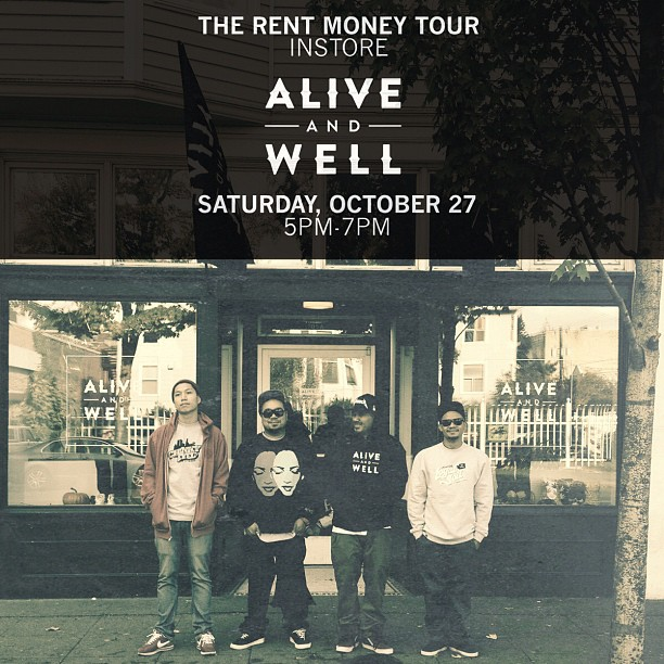 thebarmusic: In promotion of the Bambu's headlining #RENTMONEYTOUR hitting Seattle this weekend, THE BAR (Prometheus Brown & Bambu) will be doing an in-store performance at ALIVE AND WELL in Seattle this Saturday (Oct 27, 5-7pm). With appearances by Grynch, Nam Nice, Rey Resurreccion & Kixxie Siete. There will be ticket giveaways and discounted albums w/ every instore ticket purchase. The #RENTMONEYTOUR show is this Sunday, October 28 at The Croc. Get tickets HERE!