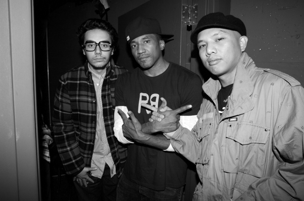 prometheusbrown: Throwback Thirst Day: Sabzi and I interrupting Q-Tip's quiet time backstage for a picture at CMJ 2007 (photo by TONE)
