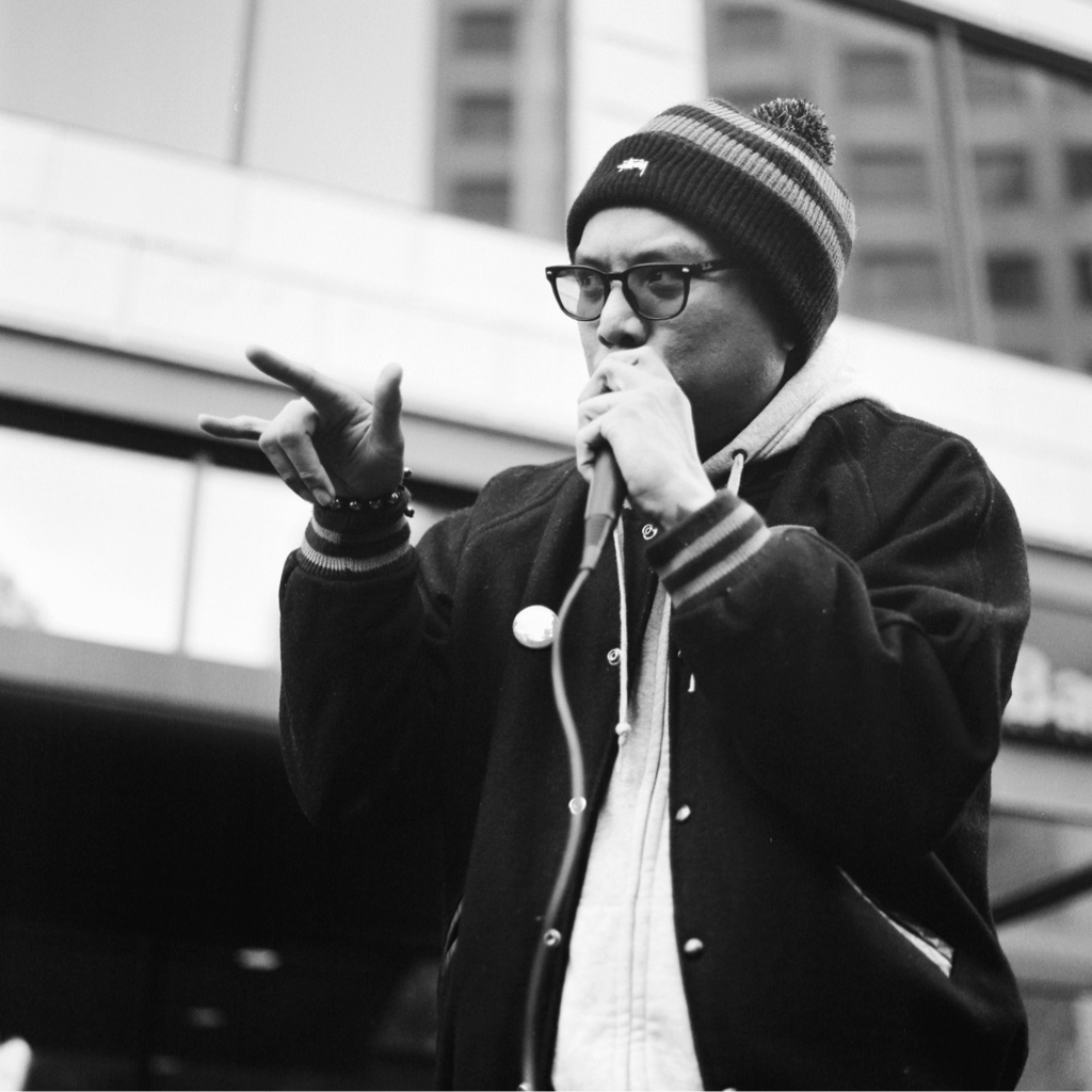 charlestice: prometheus.brown. - from the seattle band, blue scholars. westlake park, seattle. fall 2011.