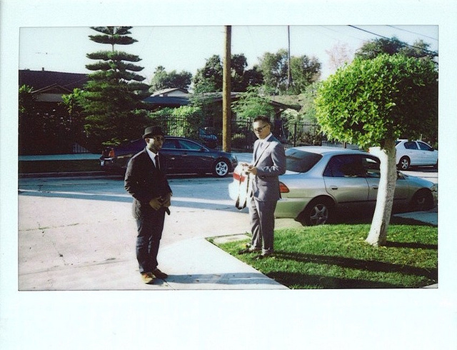 thignat: me and Pro Brown on the set of the Seijun Suzuki video in L.A. over the weekend