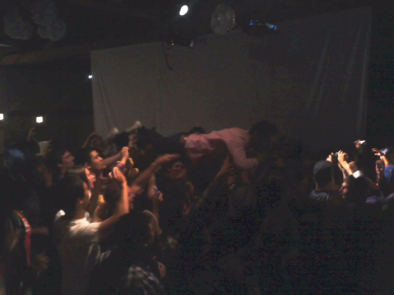 jordanloveskats: @sabzi forever crowd surfing from last night's super secret Cinemetropolis VIP Release party.