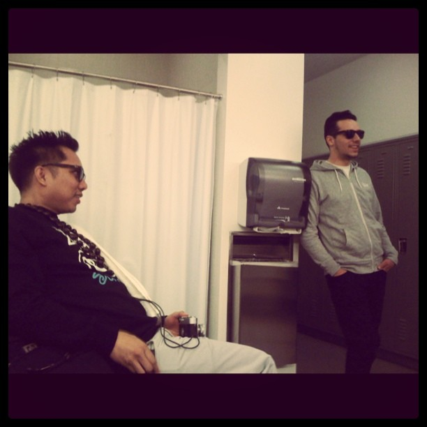 jeffbernat: Chillin' backstage w/ the Blue Scholars. (Taken with instagram)