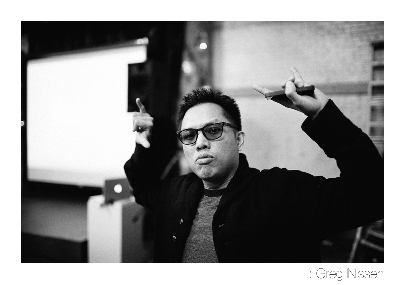 gregoryniss: Geo of Blue Scholars (@prometheusbrown) at the #Cinemetropolis listening party earlier tonight. Help back the release of the album and keep the artist-fan connection strong. Additionally, you can get the CD before the official release date and win some swag while you're at it. http://kck.st/hVt6o9
