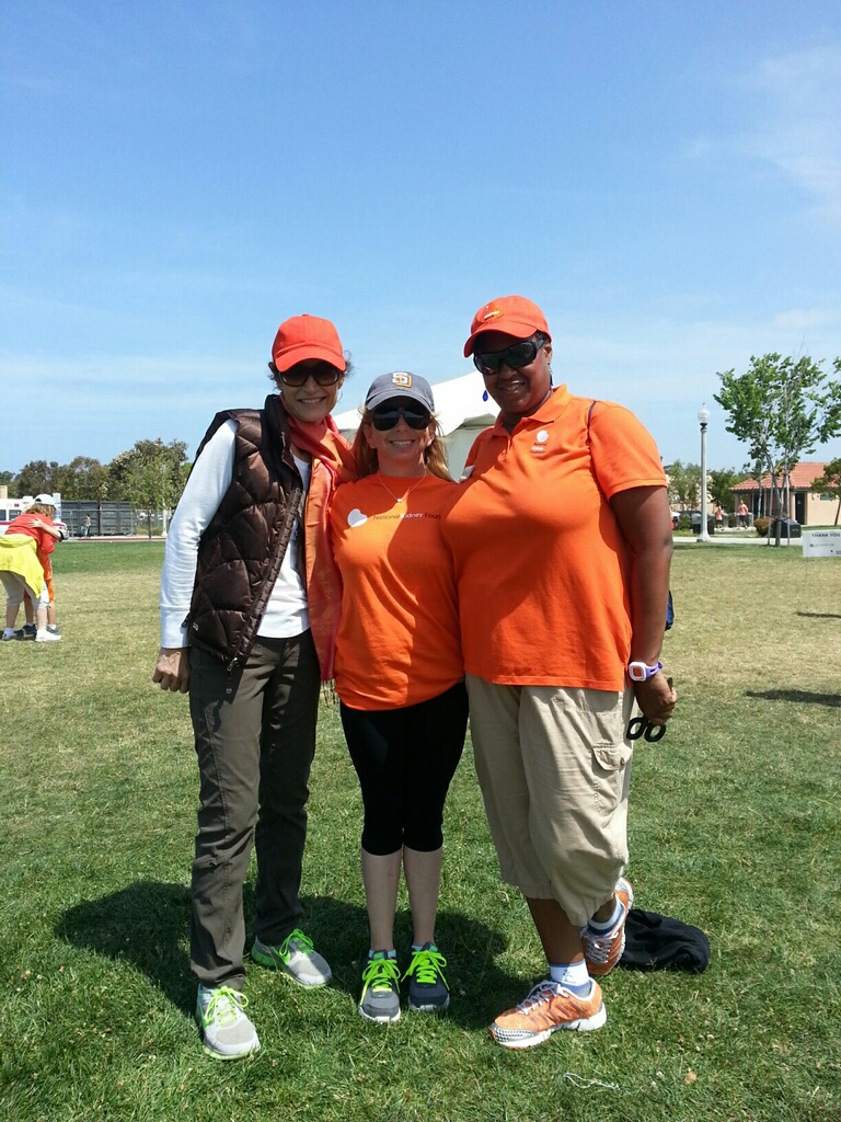 Pier Merone, NKF Division President (L), Ginger Williams, NKF Development Director (R) with Alexandra Harrison (C)