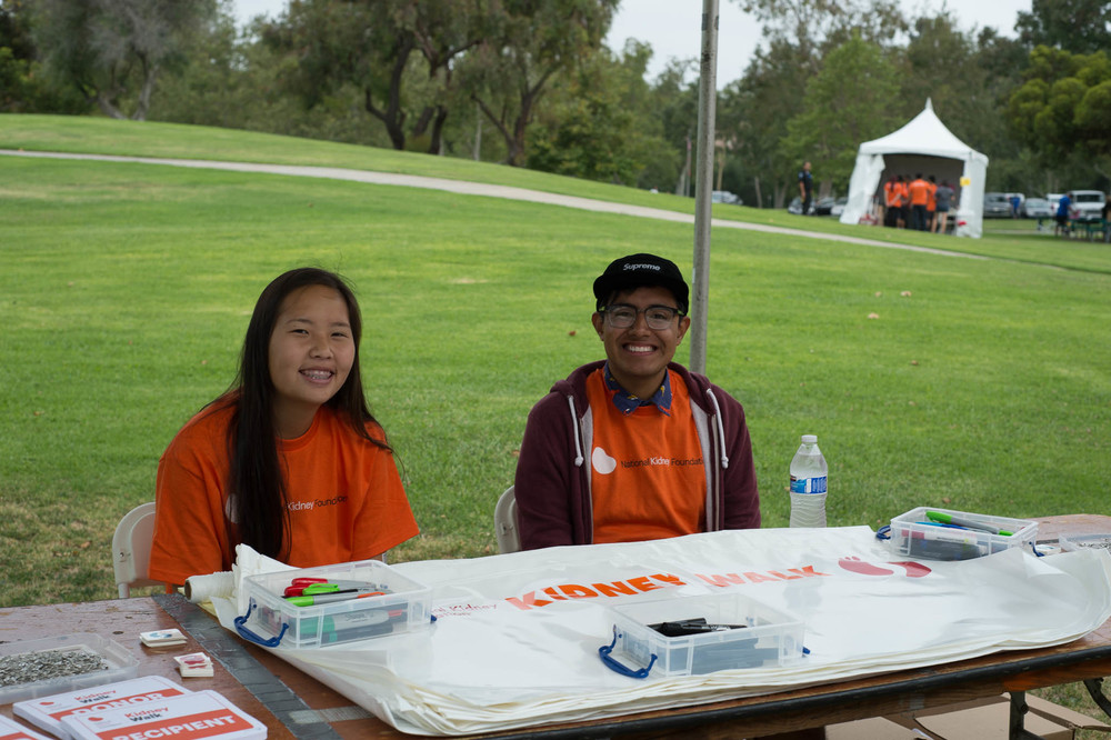 Volunteers Manning a Booth