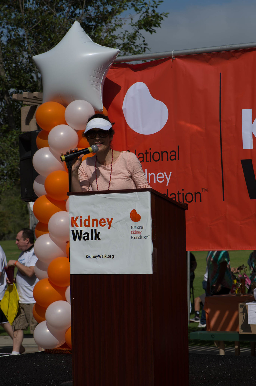 Pier Merone NKF Division President Welcoming the Walkers