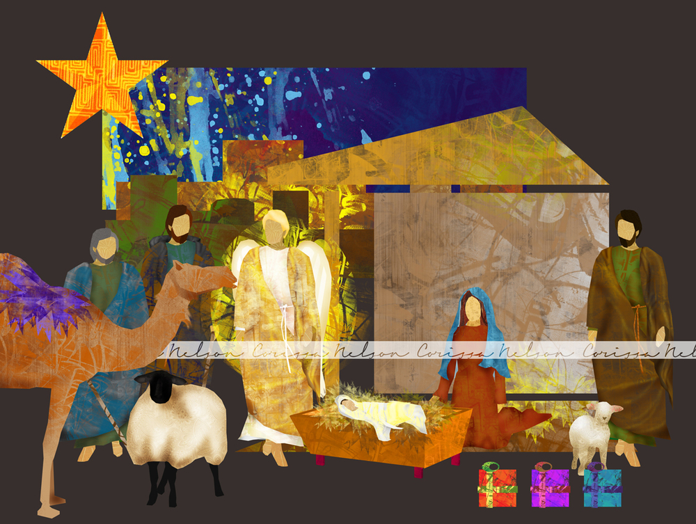 Christmas Nativity Craft Set for Kids - Illustration