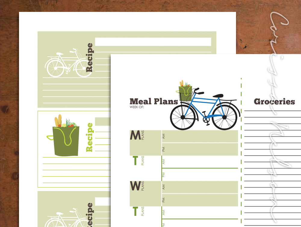 Farmers Market Bicycle Meal Planner