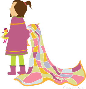 Little-Girl-and-Quilt