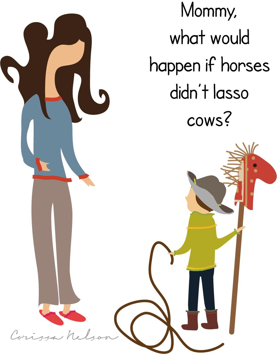 Horses Lasso Cows