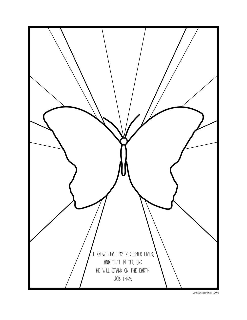 Butterfly Coloring for Kids