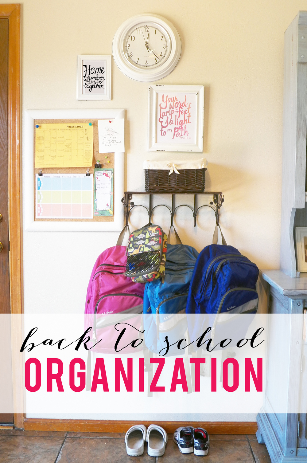 Back to School Organization Center