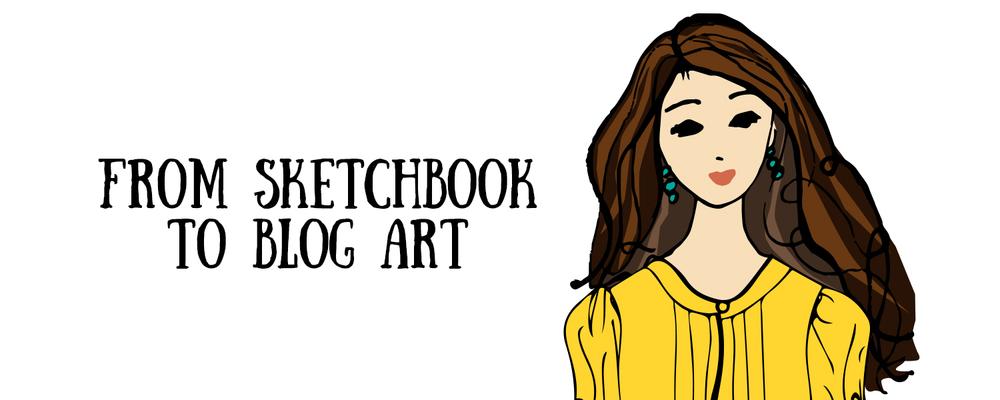 Sketchbook to Blog Art