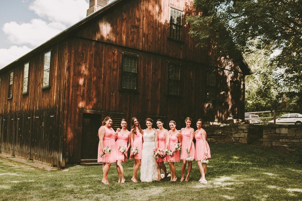 Pink Bridesmaid Dresses - Vermont Wedding Photographer