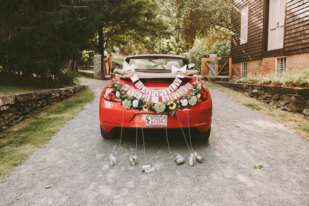 Super Cute Wedding Cars - Red Bug