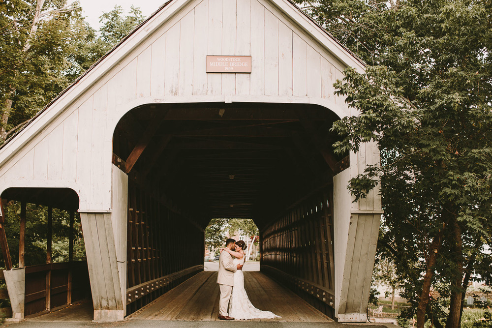 Covered Bridge Wedding Photos - Vermont Photographer