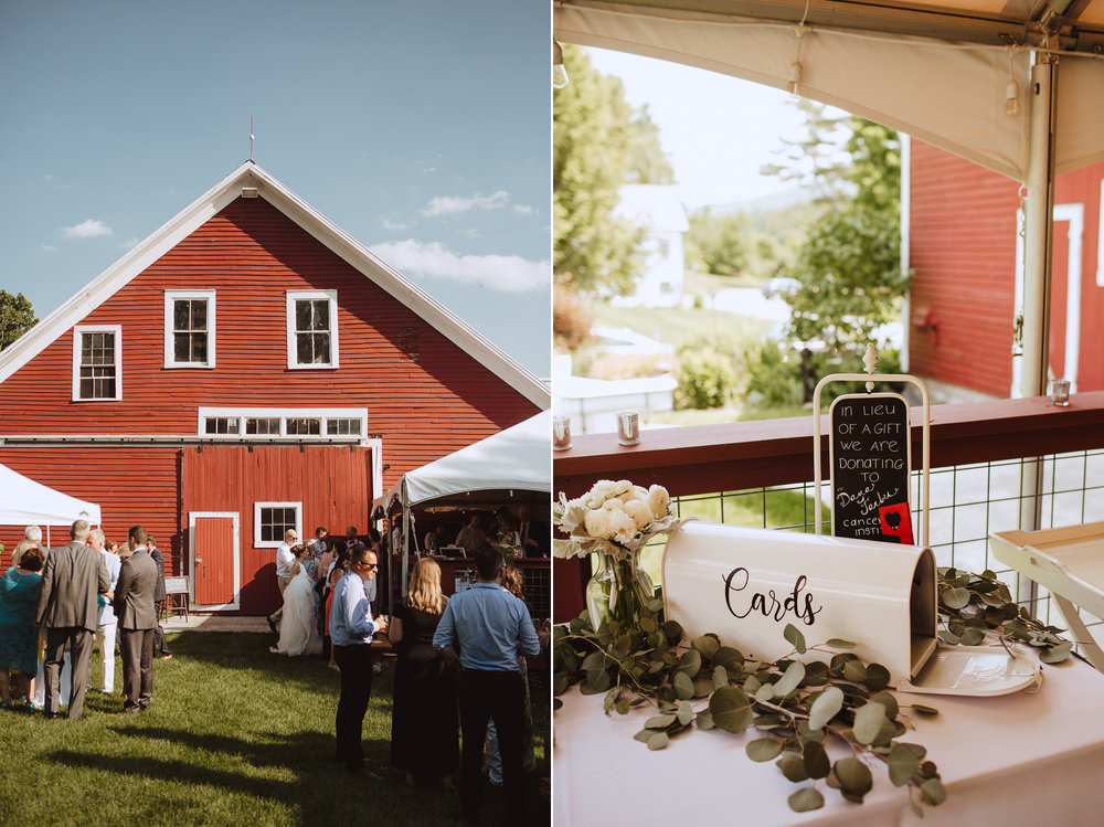 Rustic Romantic Barn Wedding Reception in New England
