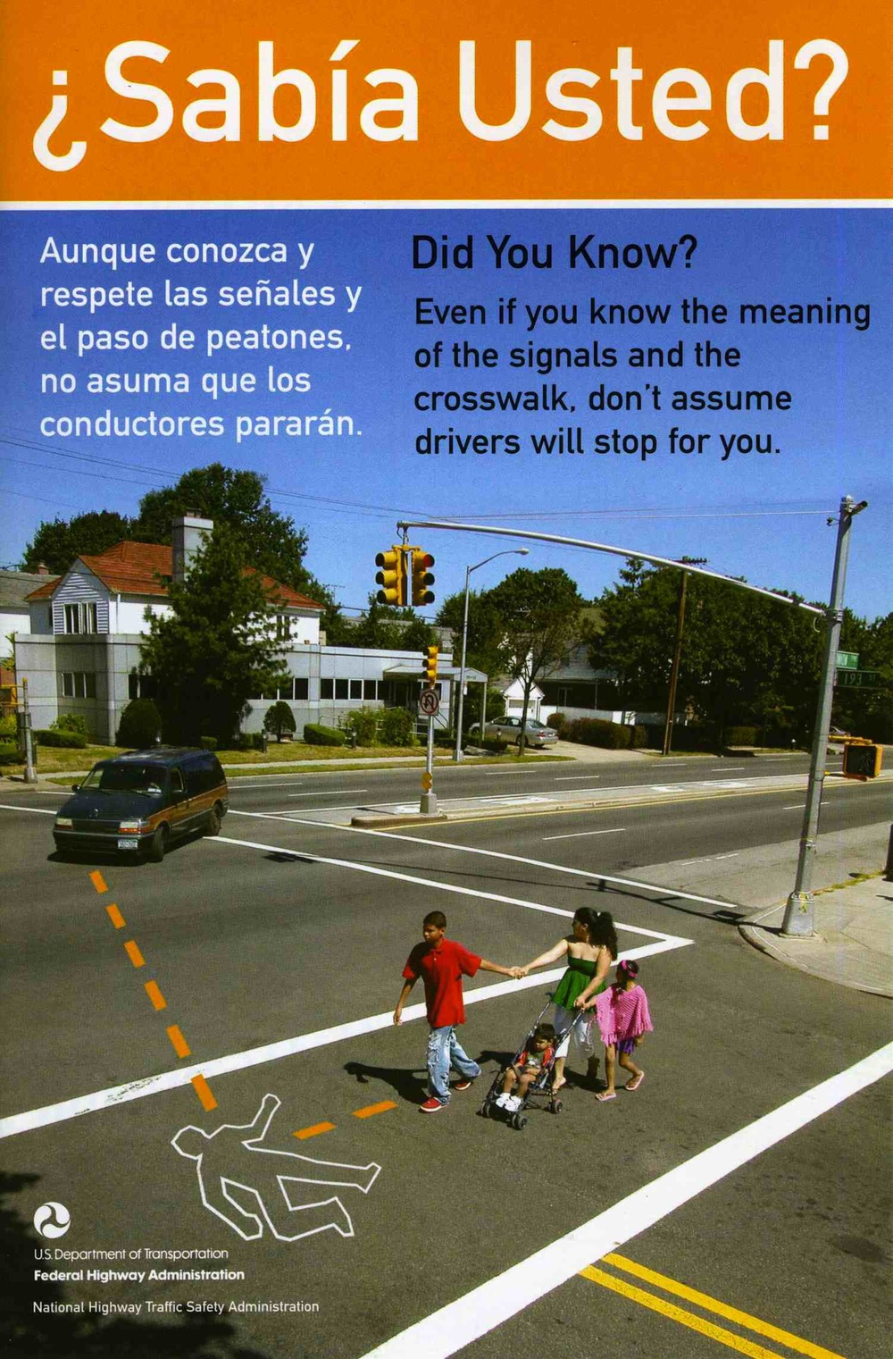 PEDESTRIAN SAFETY BROCHURE, U.S. DEPARTMENT OF TRANSPORTATION