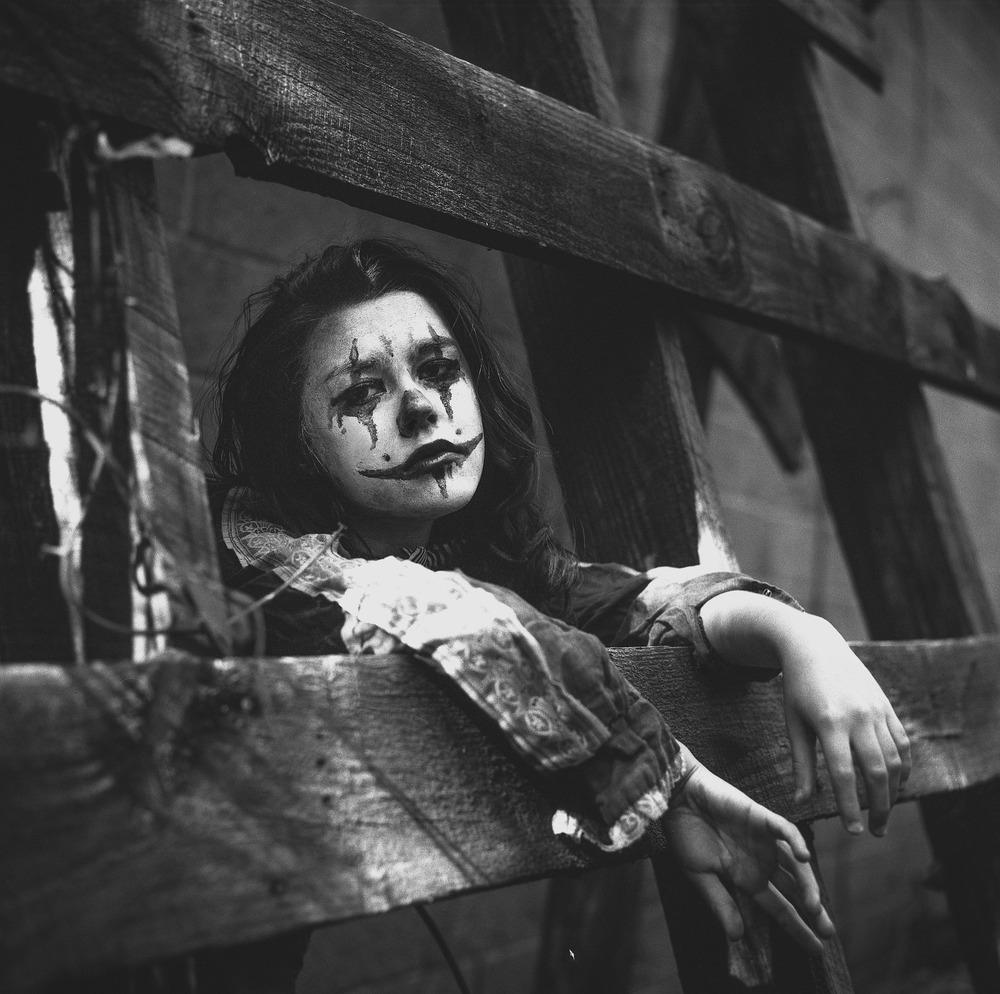 sad sad clown � darkroom portraits