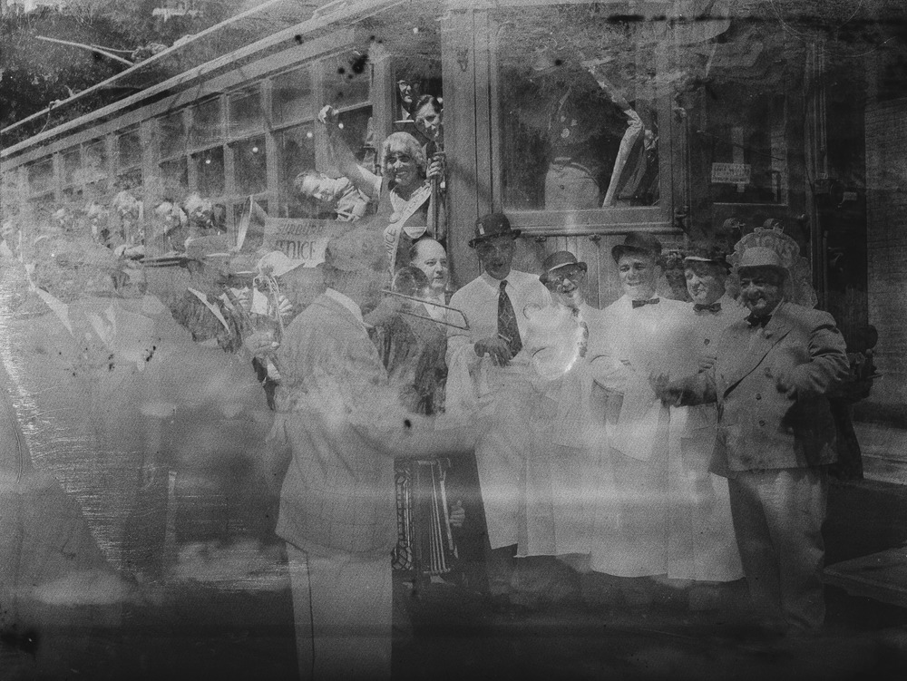 Early 1900's  Undeveloped sheet negative found in Auto Garflex 2x3 camera.   Devloped in D76