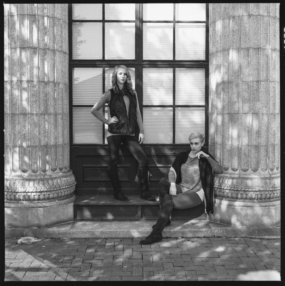 Model:Aoife Svelk &Nicolette Grenier  Cameras used: Hasselblad 501CM  Film:Hp5+ 120 medium format
