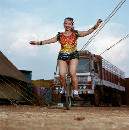 A Maharashtra circus performer.