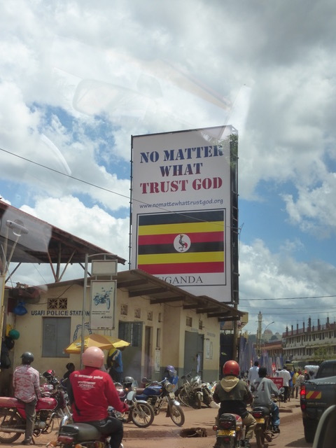 As we drove from Entebbe to Mbale, I snapped this photo out of the car window. It seemed a fitting reminder as we commenced two weeks of ministry in Uganda.