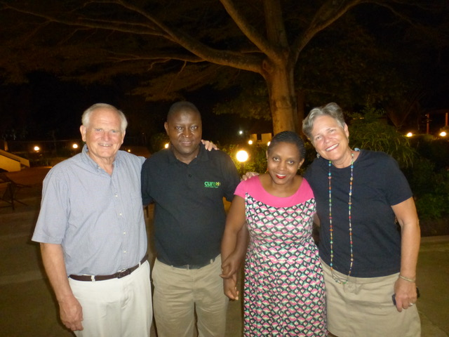 The day ended with us spending a lovely evening with Moses and Rita Rose Katungye, who both serve at the CURE Hospital.