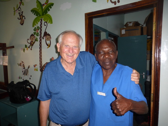 "Two ""m'zees"" together (Swahili for old men . . . I mean wise men). How we love M'zee Emma!!"
