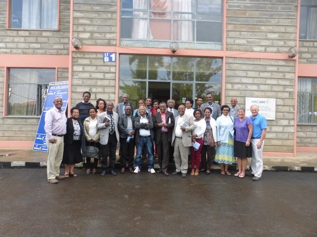 Those attending the lay pastors' marriage conference sponsored by CURE and organized by Mesfin Taye (far left).
