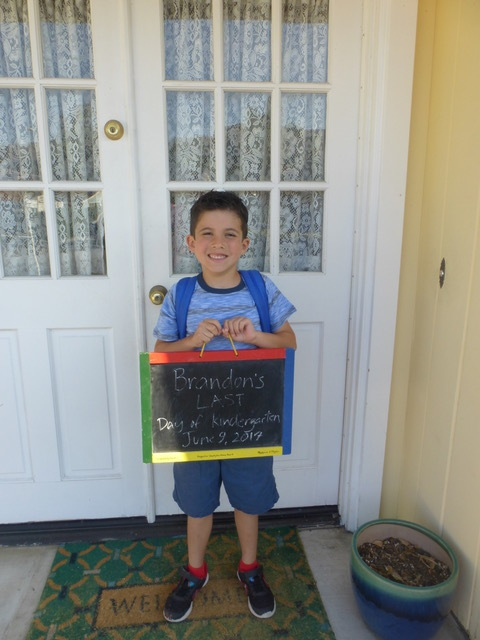 "What a great year Brandon had at kindergarten, as evidence by his sorrow that it was ""over."""