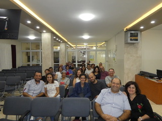 The couples who came out to hear us teach on marriage and family at IEC.